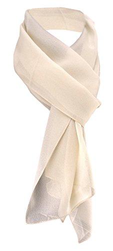 TigerTie Damen Chiffon Halstuch beige sandfarben Uni Gr. 160 cm x 36 cm - Schal