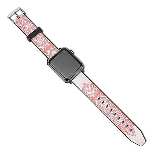 Compatible con Apple Watch Band de 38 mm y 40 mm, correa de silicona suave Lotus de oro rosa compatible con iWatch Series 5, 4, 3, 2, 1