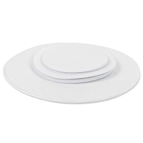 Fockety Divisores de Placas de Fieltro, Textura más Gruesa Resistente al Desgaste Larga Vida útil Almohadilla antifricción para Platos de Comida, Gran practicidad para(White, 24pcs)