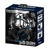 - GIGN - Auriculares para juegos 50 mms con micrófono para PS5 -...