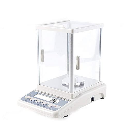 GPWDSN Balanza analítica electrónica multifunción 0,001g, balanzas Digitales de Alta precisión, balanza Multifuncional Experimental de joyería (200g / 0,001g)