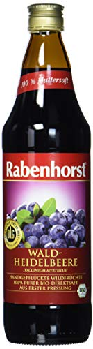 Rabenhorst Waldheidelbeere Muttersaft, 1er Pack (1 x 750 ml)