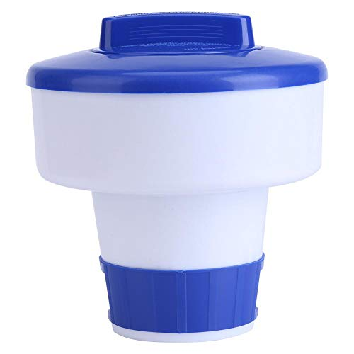 Dispensatore di cloro Spa in materiali PVC, galleggiante per cloro, erogatore di cloro, anticorrosivo bicomponente per piscine di piccole dimensioni per spa(8 inch (medium))