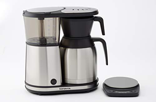 BV02001MU Bonavita Rechargeable Coffee Scale Silver/Black 7' x 5.5' x 1.25' 3