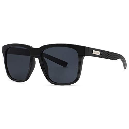 MAXJULI Polarized Sunglasses for Big Heads Men Women (not fit xl size) 8023