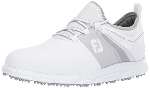 FootJoy Men's Superlites XP-Previous Season Style Golf Shoes, White/Grey, 7.5 M US