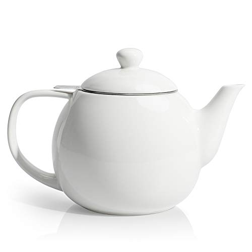 Porcelain Tea Pot with Stainless Steel Infuser