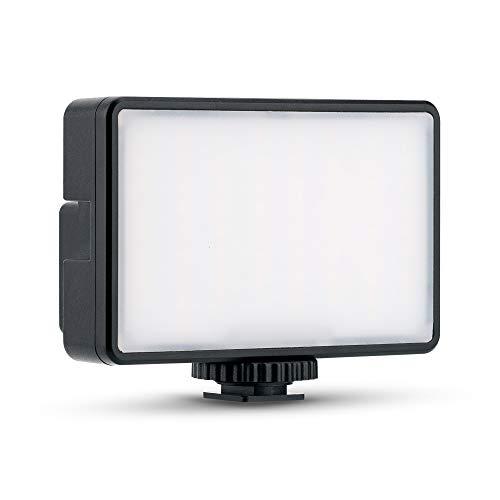 KIWIFOTOS Luz de relleno de 66 LED regulable para cámara Nikon Fujifilm Sony, cámara réflex digital, iluminación de salida, mini luz de vídeo