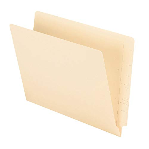 Office Depot Brand 2-Ply End-Tab Folders, Letter Size, Straight-Cut Tabs, Letter Size, Manila, Box of 100