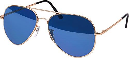 Gafas de sol de aviador de alta calidad - Gafas de sol de los años 70 para hombres y mujeres con efecto de espejo