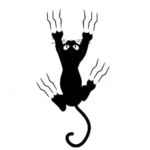 ZHYCT 2 Pcs, Car Stickers Animal Cat Claws Scratch Jump Fashion Cartoon Silver Car Vinyl Decal Sticker Skin Car Bumper Stickers,With Waterproof And Reflective