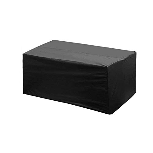 Patio Garden Furniture Cover Used for Outdoor Garden Dining Table Coffee Table Waterproof Dust-Proof Windproof Heavy Duty Tarp, Customizable GHHZZQ (Color : Black, Size : M)