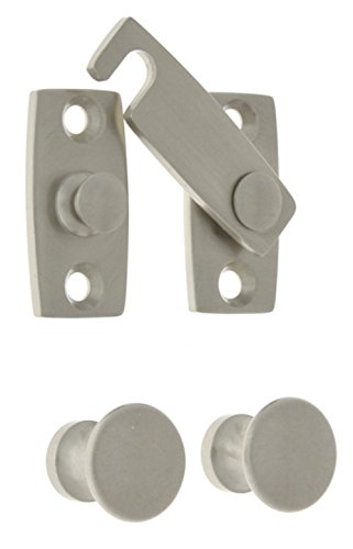 idh by St. Simons 21021-015 Professional Grade Quality Genuine Solid Brass Shutter bar Kit, Satin Nickel