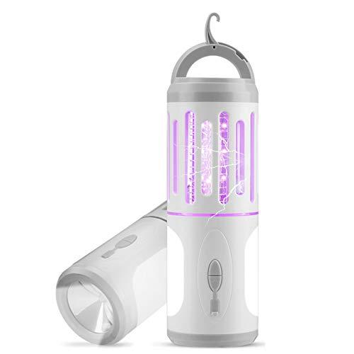 AODOOR Elektrischer Insektenvernichter, Mückenlampe, LED Mückenfalle, UV Insektenvernichter, Insektenlampe USB Tragbare, Moskito Killer für Innen und Außeneinsatz Schlafzimmer Gärten Camping
