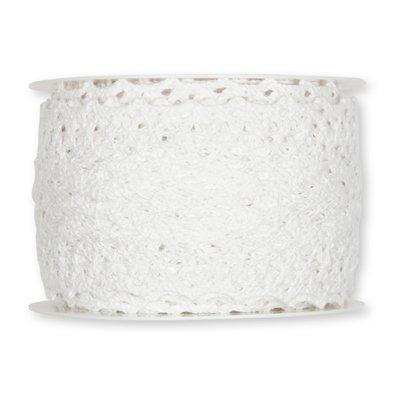 Häkelspitze aus Baumwolle Breite: 60 mm Länge: 5 Meter Farbe weiß