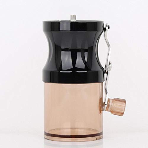 Qingsb Portable Mini Coffee Grinders Manual Travel Household Cafe Coffee Bean Grinding Lapping Machine, zwart