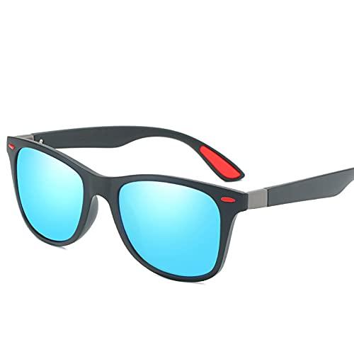 SHEANAON Tr90 Gafas de Sol polarizadas Gafas de Sol cuadradas Gafas de Sol Masculinas Gafas de Sol para Hombres
