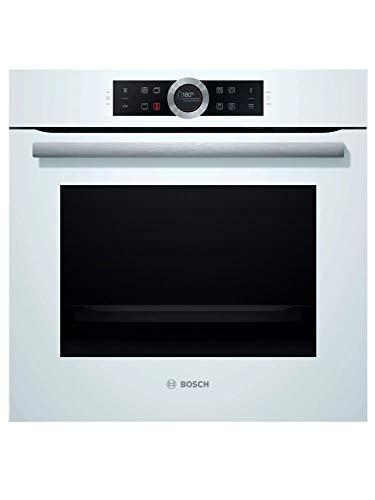 Bosch Serie 8 HBG675BW1 - Horno multifunción, 60 cm, Autolimpieza Pirolítica, 3600 W, 13 funciones, Bloqueo de seguridad, Color blanco [Clase de eficiencia energética A+]