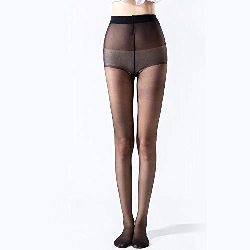 bayrick Pantis Mujer Sexy,Nueva Femenina Ultra Delgada Invisible más Pantyhose antialcero Transparente Completo * 6-Negro_A
