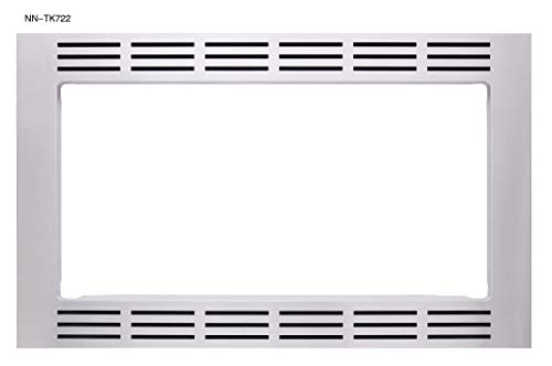 "Panasonic 27"" Microwave Trim Kit for Panasonic 1.6 cu ft Microwave Ovens – NN-TK722SS (Stainless Steel)"