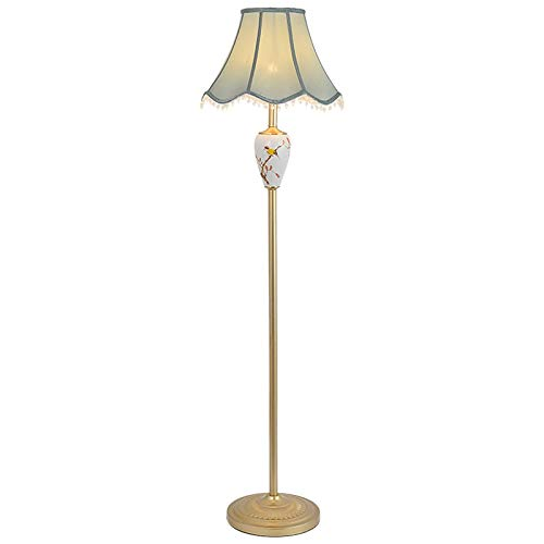 Wvfguj Wandlamp voor binnen Staande lamp Moderne minimalistische woonkamer American Living Room Book Room Aisle Slaapkamer Vertical Chinese bloemen en vogels Decoratie LED Floor Lamp