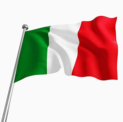 Bandera italiana 90 * 150cm 4 bandera bandera de poliéster con agujeros