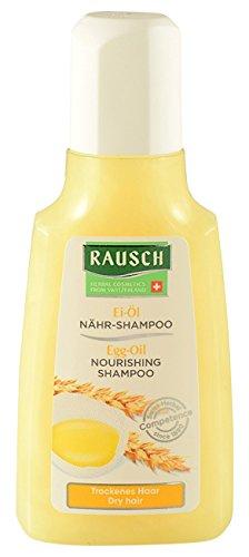 Rausch Ei-Öl Nähr-Shampoo (pflegt die trockene Haarstruktur, schenkt Geschmeidigkeit und Glanz ohne Silikone und Parabene), 4er Pack (4 x 40 ml)