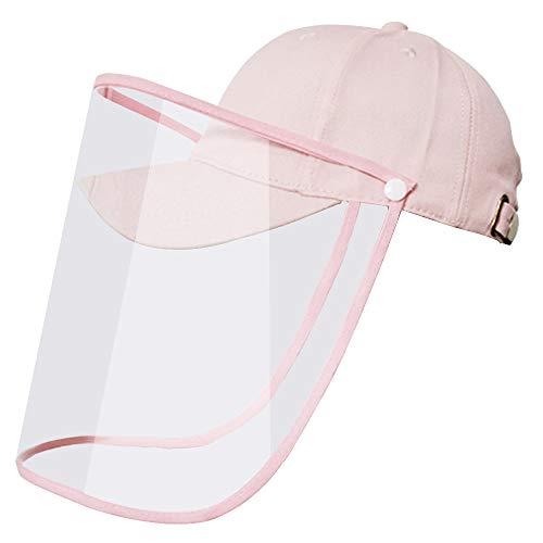 Silver Basic Schutzhelme Gesichtsschutzschirm Verstellbarer Vollgesichtsschutz Visier Anti-Spucke Anti-Spray Anti-Staub-Schutzmaske Gesichtsschutz Visier,Rosa-9