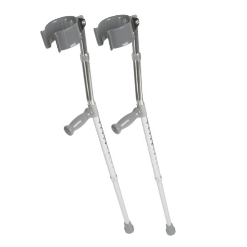 Medline MDS805160 Aluminum Forearm Crutches, Tall Adult