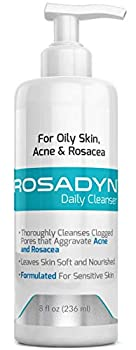Rosadyn Gel Cleanser for Oily Sensitive Skin Acne Rosacea and Breakouts |Formulated with Organic Honey a Natural Anti-Inflammatory