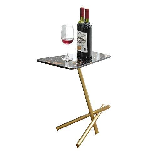 Bureau DD bijzettafel, Nordic marmer salontafel, woonkamer bank slaapkamer smeedijzeren kleine koffietafel, plank -werkbank