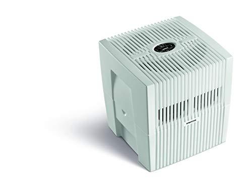 VENTA Comfort Plus Airwasher LW25, Luftbefeuchtung und Luftreinigung (bis 10 µm Partikel) für Räume bis 45 m², hochweiß, mit digitaler Steuerung, UK-Stecker