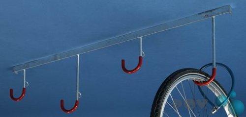 Fahrradständer - Reihen-Hängeparker Modell 3804 mit 4 Einstellplätzen - Deckenmontage