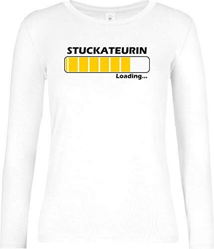 Shirtinstyle Femme Long, Chargement Stuckateurin, Professions - Blanc, L