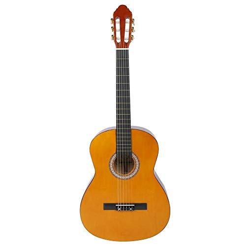 Oranje Basswood klassieke gitaar met riem snaren Capo Picks voor beginners, kinderen