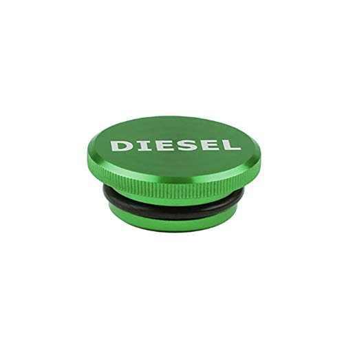 YSHtanj Fuel Cap Auto Interieur Onderdelen Beschermende Cover Diesel Billet Aluminium Brandstof Cap Magnetische Cover voor 2013-2017 Dodge Ram Truck - Groen
