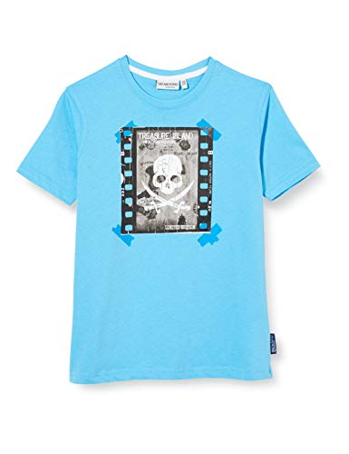 Salt & Pepper Jungen 03112172 T-Shirt, Blau (Caribic Blue 446), 140 (Herstellergröße: 140/146)