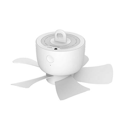 Heizung USB-Deckenventilator 4-Gang-Einstellbarer Kleiner Lüfter für Bettstummel tragbarer Ladeherung mit Timing-Stummschaltung drahtlose Fernbedienung