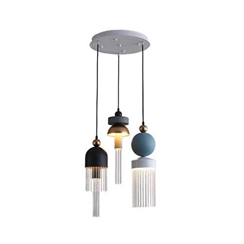 Decoración de Muebles Lámpara Colgante Lámpara Moderna Lámpara de Techo Nordic Macaron Aluminio + Vidrio Lámpara de Techo Cocina Sala de Estar Bar Mesa de Comedor Iluminación