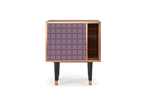 Furny - S2 - sideboard, UV printed designs, Geometric Style, 1 door with push-to-open and open space on-side, 57.5W x 48D x 69H - Riviera Mosaic