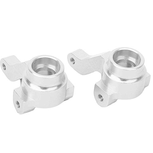 Bisheep Soporte de cubo de mando a distancia, portador de buje de dirección delantera (L/R£Fit para HPI RS4 On Road Drift Model RC Car, 2 colores (plata 113708S)