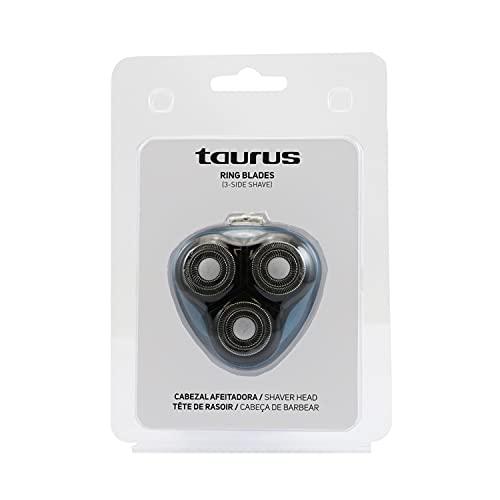 Taurus Recambio Cabezales 3 Side Shave Plus - Cuchillas de doble anillo, apto para la afeitadora 3 Side Shave Plus