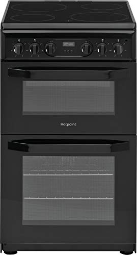 Hotpoint HD5V93CCB 50cm Double Oven Electric Cooker with Ceramic Hob - Black