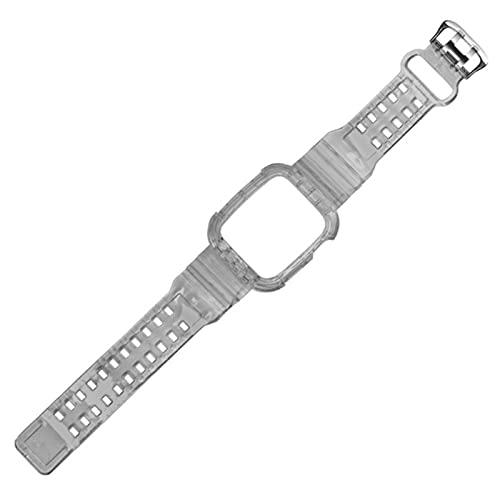 Correas de reloj de silicona transparentes para la serie Iwatch 5/4/3/2, correa de repuesto de pulsera transparente completa para Apple Watch 38mm 40mm