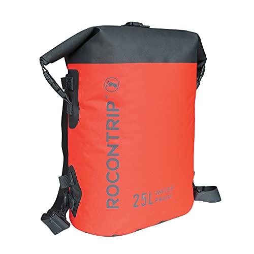 Waterproof Backpack, Lightweight Travel Hiking Backpack Waterproof Outdoor Dry Bag Water Sports for Floating Kayaking Canoeing Hiking Camping Boating Rafting Swimming (Orange)