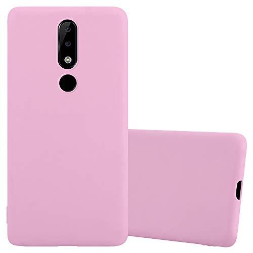 Cadorabo Hülle für Nokia 5.1 Plus/Nokia X5 in Candy ROSA - Handyhülle aus flexiblem TPU Silikon - Silikonhülle Schutzhülle Ultra Slim Soft Back Cover Hülle Bumper