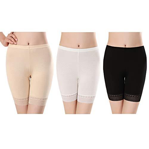 Faja Reductora Ropa Interior Cintura Alta Pantalones Braguita Moldeadora Adelgazante Faja Pantalón para Mujer Body Shaper(3 Pack for Negro/Blanco/Beige)