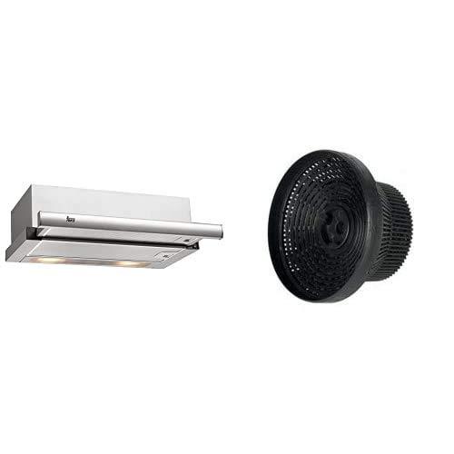 Teka 40474250 TL 6310 - Campana extraíble, 332 m³/h, acero inoxidable + C3C (TL1 62/92) - Filtro de aire