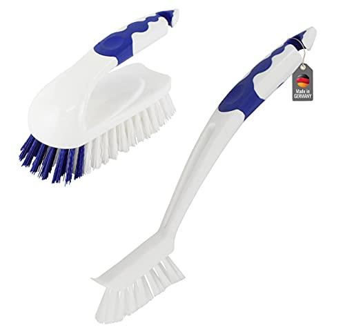 Lantelme Badezimmer Reinigungsbürste Set Bürsten Fugenbürste Fliesen Scheuerbürste für Bad und Küche 4231