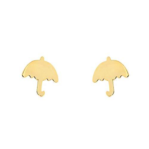 Dames & kinderen paraplu oorbellen - geel goud 9 karaat (375)
